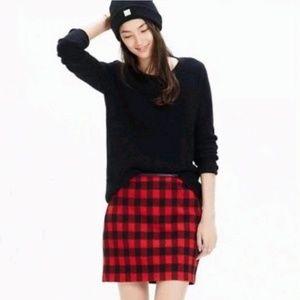 Madewell Buffalo plaid skirt